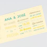 Invitación de boda A100142