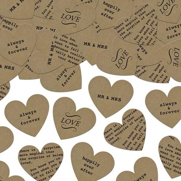 confeti corazon kraft