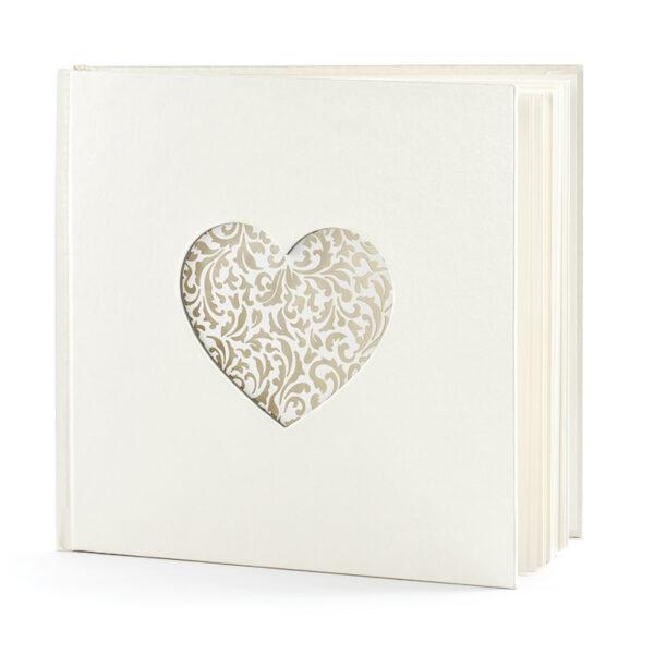 libro firmas blanco corazon blanco troquelado