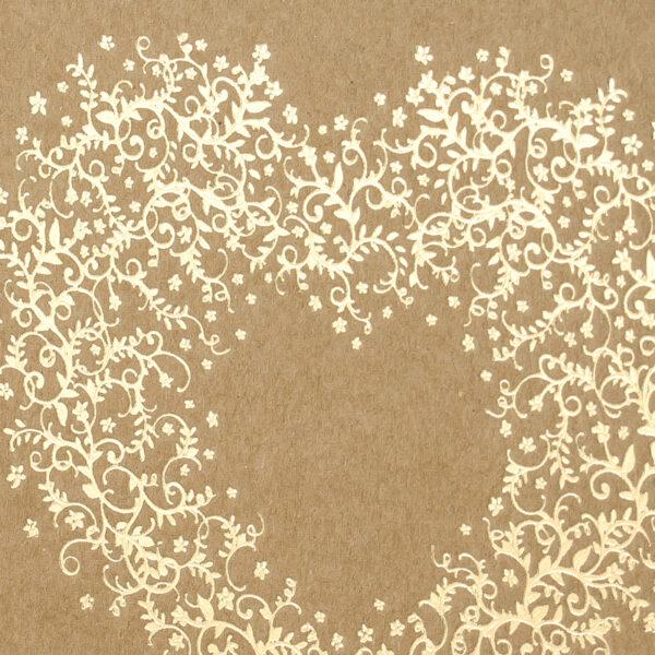 libro firmas kraft con corazon en dorado detalle