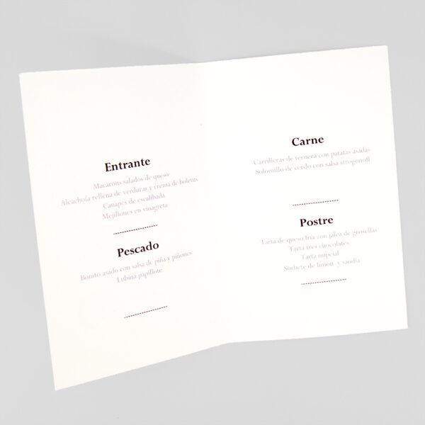 menu de boda novios en moto interior