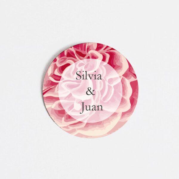 pegatina-adhesiva-nos-casamos-entre-flores
