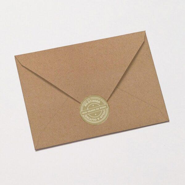 pegatina adhesiva pasaporte a la boda en sobre