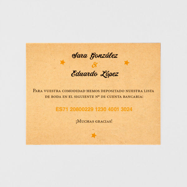 tarjeta adicional invitacion de boda entrada vip