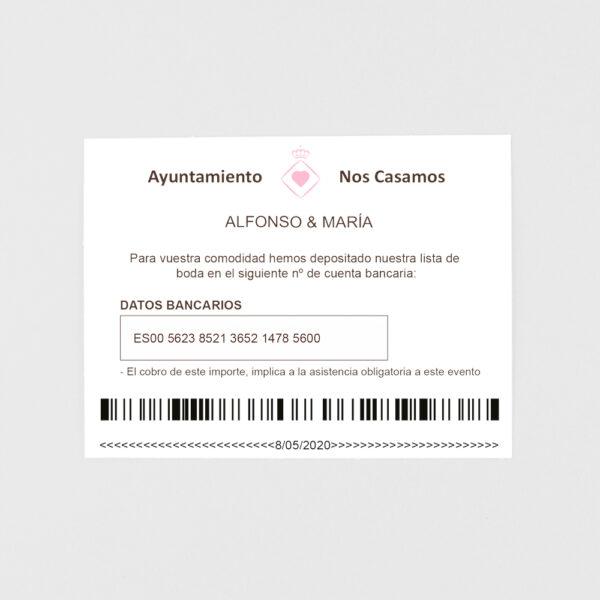 tarjeta adicional invitacion de boda multa de trafico