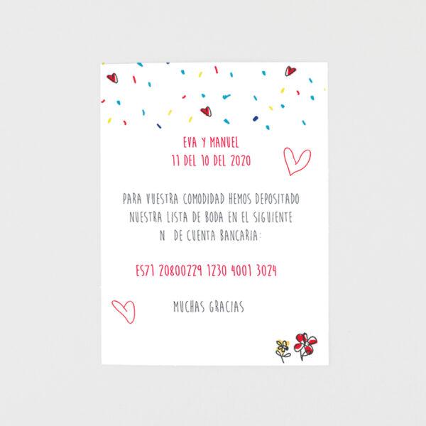tarjeta adicional invitacion de boda papa y mama se casan