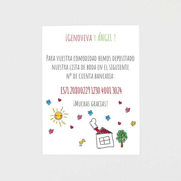 tarjeta adicional invitacion de boda papi ami y max