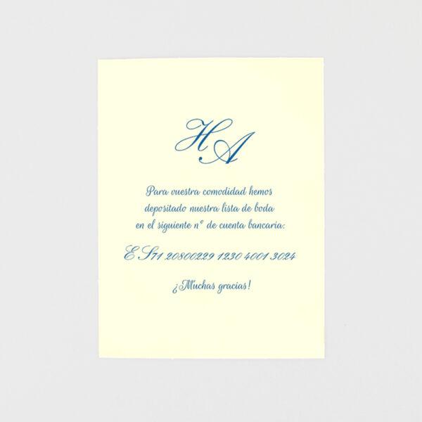tarjeta adicional invitacion de boda verjurado desbarbado