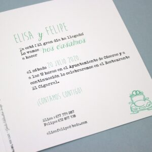 Invitacion de boda A106080