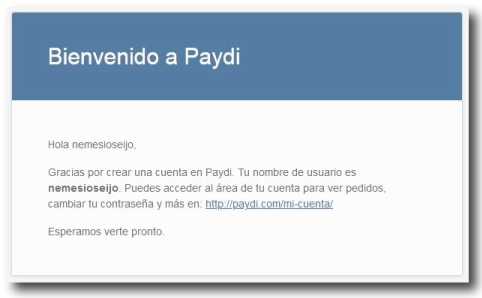 Bienvenido a Paydi